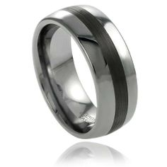 8MM Men's Tungsten Polished Brushed Center Wedding Band Ring Sizes 8-12 Silverbin. $16.99. Tungsten metal. Men's fit. High-polish finish. Band dimensions: 8 mm