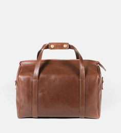 Handcrafted leather overnight bag | Jess Wootten
