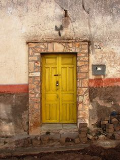 Colorful #Architecture Rural Zacatecas  Mexico opening doors
