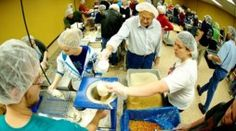 Volunteering at Feed My Starving Children (food-packing charity) is the best way to spend an afternoon.