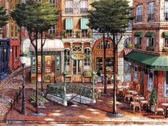 Sunlit Square by John O'Brien