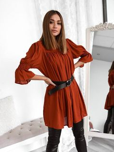 Μπλούζα Διαφάνεια Με Ζώνη Κεραμιδί - Day Like This Days Like This, Blouse, Long Sleeve, Sleeves, Shirts, Tops, Women, Fashion, Moda