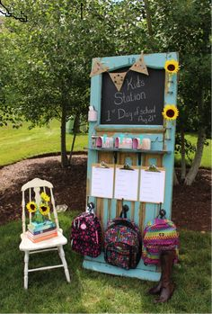 Kids' Back-to-School Station {Tutorial} - So You Think You're Crafty