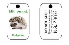 British #animals #trackable tag for #geocaching series of tags (like a travel bug,  View more on the LINK: http://www.zeppy.io/product/gb/2/131864898533/