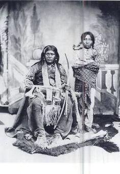 Ignacio and his son - Mescalero Apache - 1883