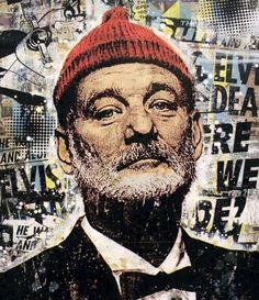 INSIDE THE ROCK POSTER FRAME BLOG: Greg Gossel Zissou Art Print of Bill Murray from The Life Aquatic on sale today