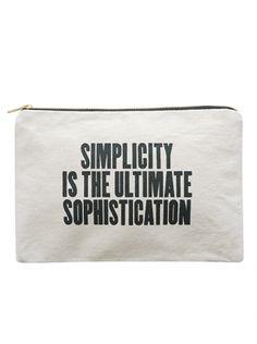 Canvas Pouch - Simplicity | Shop | Alphabet Bags