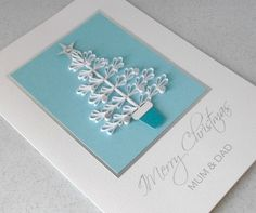 Quilled Christmas card for mum and dad £6.00