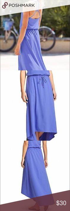 Athleta Novella Dress Baja Blue, size 4 NWOT Beautiful and comfortable summer dress with built-in bra Athleta Dresses High Low