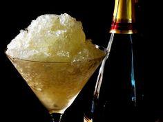 Light and delicious summer dessert - Prosecco, Lemon, and Ginger Granita