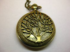 Pocket watch pendant branches of trees natural cp2 by balintbae, $4.60