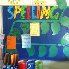 The start of my spelling vine