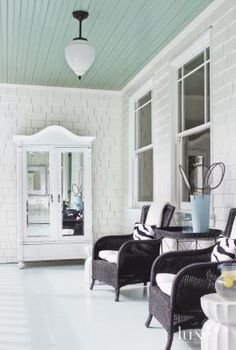 Contemporary Victorian Front Porch Armoire