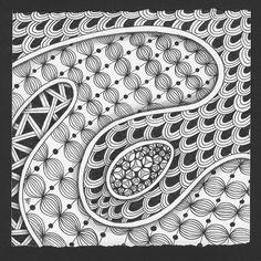 Patternprints journal: drawing beautiful patterns by hans: tutorials about tangle art Tangle Doodle, Tangle Art, Zen Doodle, Zentangle Drawings, Doodles Zentangles, Doodle Drawings, Doodle Art Letters, Doodle Art Journals, Doodle Patterns
