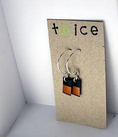 shampoo bottle earrings -  recycled jewelry minimalist by twicecreations, $9.00