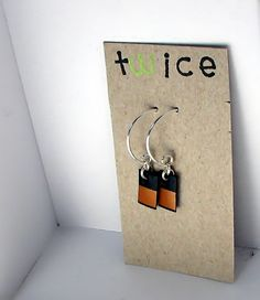 shampoo bottle earrings -  recycled jewelry minimalist by twicecreations, $9.00