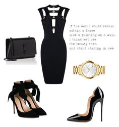 """Untitled #1128"" by marxendjie on Polyvore featuring Yves Saint Laurent, Gianvito Rossi and Movado"