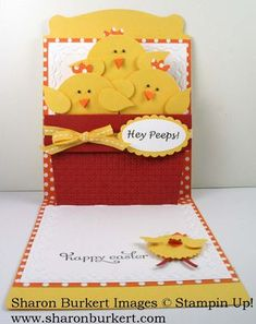 Stampin' Up! Pop N Cuts by Sharon B at As The Ink Dries: chix in a pot