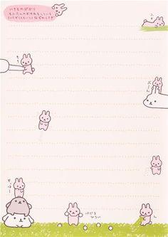 Japanese white San-X Mofutans Mochi rabbits Note Pad 7