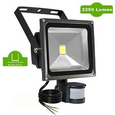 Noza tec led low energy security flood light with pir sensor20w meikee 30w motion sensor light super bright led flood lights high output 2250lumen aloadofball Images