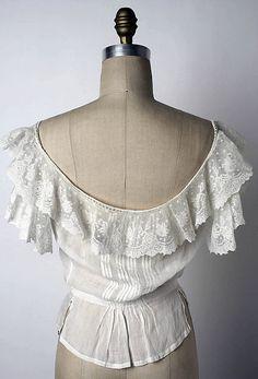 Linen Corset Cover - American c.1900-1903