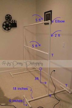 Diy photo booth backdrop frame for around 10 happiness is diy photography backdrop stand looks like a giant ladder ball game if you wanted to do one that is diy i have my apple lap top and we can set this up solutioingenieria Images