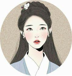 "Incredibly beautiful fan art of IU (아이유). Drawing is of her as Hae Soo/Go Ha-jin from the K- drama, ""Moon Lovers: Scarlet Heart Ryeo"". Cartoon Kunst, Cartoon Art, Korean Art, Asian Art, Korean Drama, Fantasy Kunst, Fantasy Art, Art Sketches, Art Drawings"