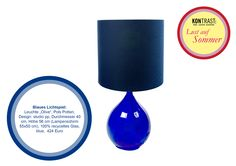 Lust auf Sommer Tischleuchte 'Olive' in leuchtendem Kobaltblau - knalliger Blickfang für Ihr Zuhause. #kontrast #furniture #accessories #decoration #lamp #tablelamp #light #polspotten #blue #cobalt #bright #summer #light #cool #glass #summer