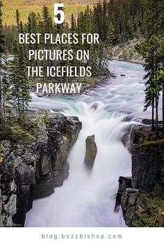 Here are the 5 best places to stop for pictures when driving the Icefields Parkway, the most scenic drive in Canada. From Sunwapta Falls to the Columbia Icefield, from Bow Summit to the Big Bend, I'll tell you where to get the best shots on this stunning drive in the Canadian Rockies through Banff and Jasper National Park. Alberta Travel, Canadian Rockies, Banff National Park, Jasper, Columbia, Waterfall, Shots, Canada, Bow