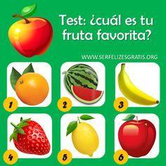 DE TODO UN POCO: El test de las frutas.