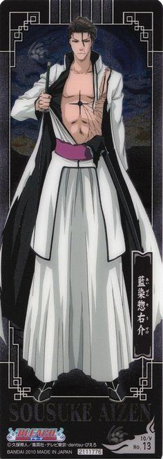 Aizen. Omg. Sousuke Aizen. Massive anime crush. I'm still hoping he'll make more appearances in this latest manga arc. XD
