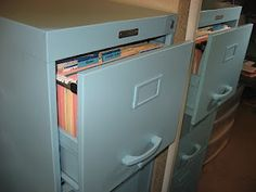 DIY: How to Paint an Old, Rusty, Filing Cabinet