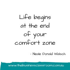 Whats stopping you from stepping outside your comfort zone?