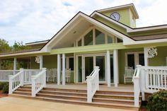 Decorative Azek Vinyl House Trim, Porch Columns Brackets, Porch Railing Panels, Exterior House Gates In Coastal Caribbean Styles Exterior Vinyl Shutters, Louvered Shutters, Exterior Trim, Cottage Exterior, Porch Trim, Exposed Rafters, Porch Columns, House Trim, Stair Risers
