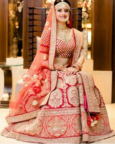 Crimson Red Bridal Wedding Lehenga Choli - Explore Latest Dulhan Lehenga Design with Price. Shop from the latest collection of Traditional Red Bridal Lehenga.