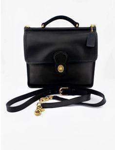 852f49baae65b Vintage Coach Willis Crossbody Station Bag Style No. 9927 in Black