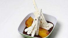 Chocoladepudding met kokosmelk, perzik en meringue | VTM Koken