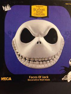 5 Pc Nightmare Before Christmas Jack Wall Masks