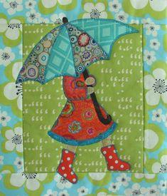 April Showers mini quilt at Quilt Vine