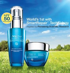 Help defend your skin against the visible effects of environmental skin damage.  Formulated with broad spectrum SPF50  This is the Anew regimen that I use -- Gato