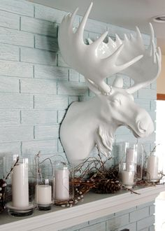 "I NEED this!! white ceramic moose head = just awesome :) Moose Head - 31""H from Z Gallerie"