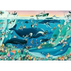 Heye Blachon Ski Paradise 1000 PC Jigsaw Puzzle Cartoon Nude/naked Skiers Skiing for sale New Puzzle, Puzzle Art, Jigsaw Saw, 1000 Piece Jigsaw Puzzles, Skis For Sale, Ocean Habitat, Big Ben London, Victorian Cottage, Dog Portraits