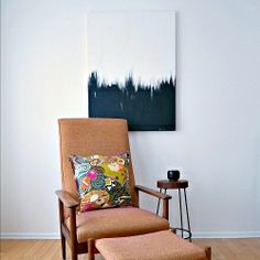 A surprisingly easy tutorial for a great piece of DIY abstract art. Customize with color!