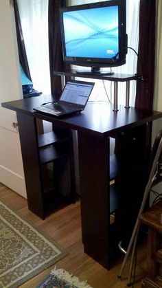 Love this ikea hack standing desk for myself
