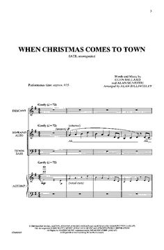 When Christmas Comes to Town (SATB ) arr. Al | J.W. Pepper Sheet Music
