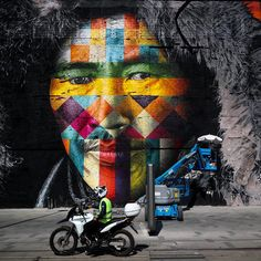 """Eduardo KOBRA """"etnias"""" en Rio de Janeiro"""