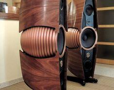 High end speakers Audiophile Speakers, Speaker Amplifier, Hifi Audio, Car Audio, High End Speakers, Big Speakers, Sound Speaker, Homemade Speakers, Radios