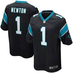 Men's Nike Cam Newton Carolina Panthers Game Jersey - Black