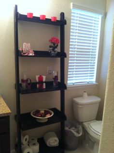 1000 images about small bathroom on pinterest small for Pink and black bathroom decor