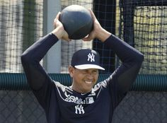 New York Yankees' Alex Rodriguez works out at the Yankees minor league complex for spring training in Tampa, Florida February 23, 2015. REUTERS/Scott Audette